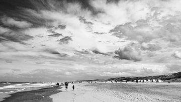 Strand von Cadzand (zw-w) von Mister Moret Photography