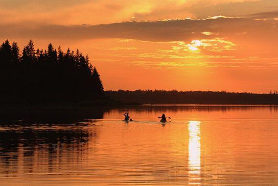 Elk Island kano varen van Hans Jansen - Lynxs Photography