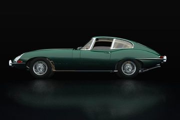 Jaguar E Type Zijaanzicht