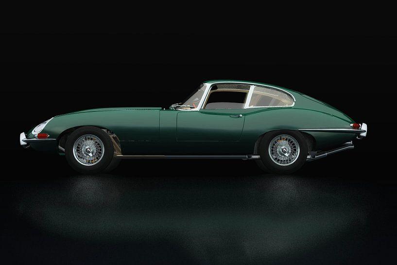 Jaguar E Type Zijaanzicht van Jan Keteleer