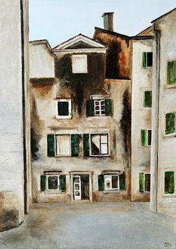 Een huis in Kotor, Montenegro van Linda Dammann