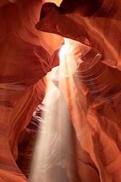 Upper Antelope Canyon met Lichtstraal van