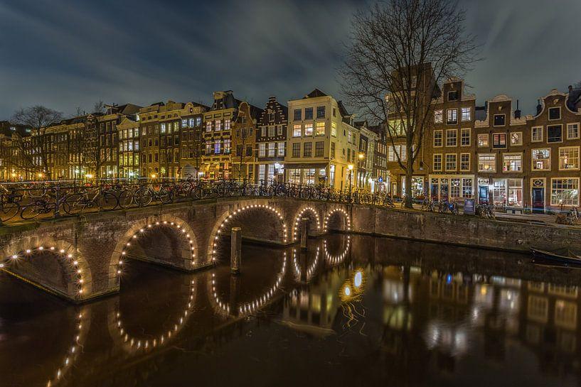 Amsterdam by Night - Herengracht en Herenstraat - 1 van Tux Photography