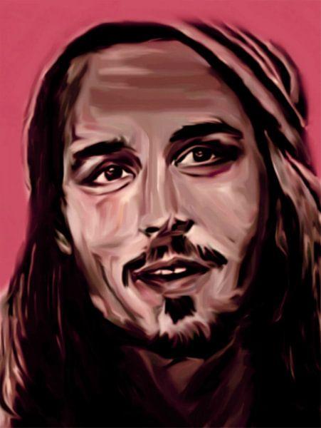 Johnny Depp Pop Art PUR Serie NO.1 van Felix von Altersheim