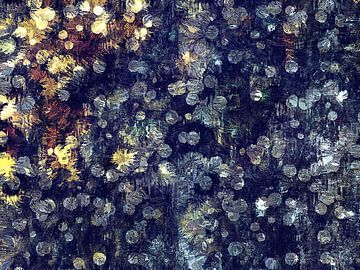 Abstract met bokeh-achtige patronen van