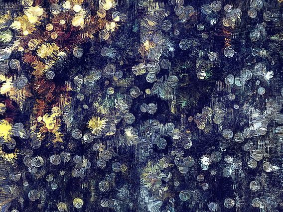 Abstract met bokeh-achtige patronen