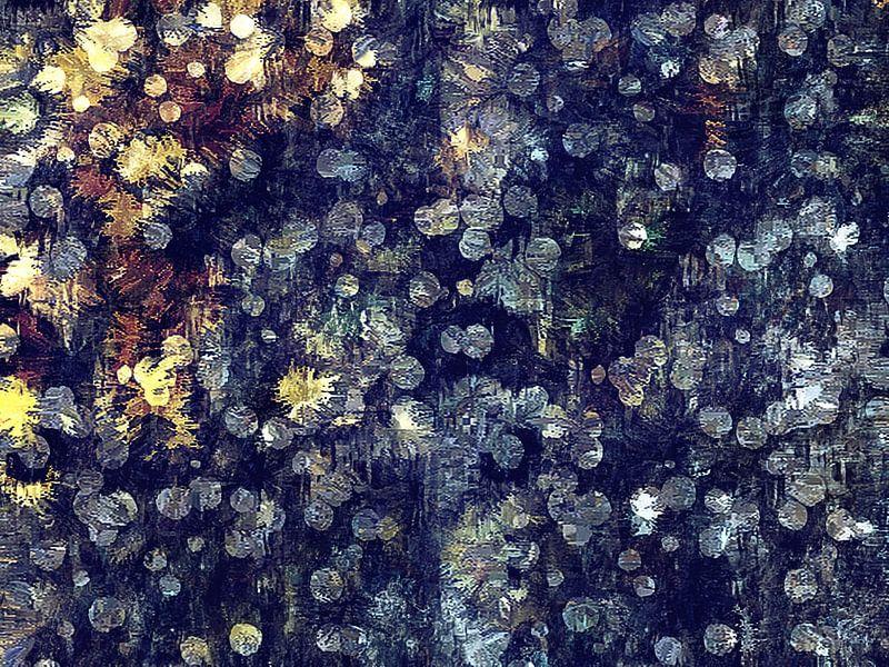 Abstract met bokeh-achtige patronen van Bob Timroff