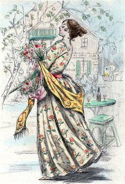 Damenmode des 19. Jahrhunderts in Paris (1844), Henri Boutet