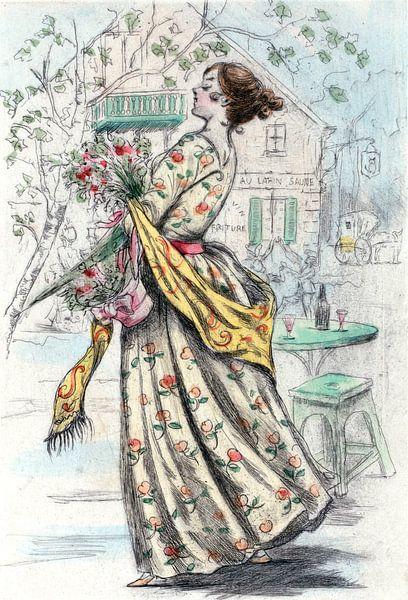 Mode 1844, Mode in het negentiende-eeuwse Parijs, Henri Boutet, (1851 1919) van Liszt Collection