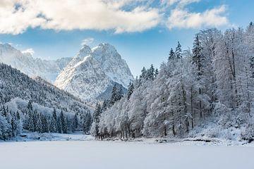 De winter aan de Rießersee van Michael Valjak