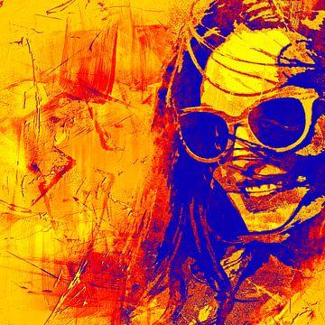 In sunny California - yellow and blue van PictureWork - Digital artist