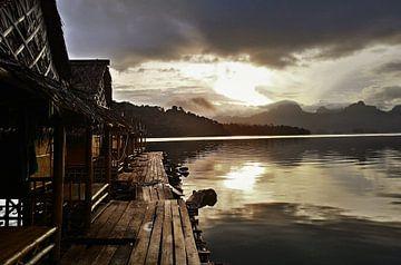 Zonsopgang aan het meer van Lynn's foto's