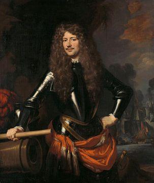 Porträt von Cornelis Evertsen dem Admiral von Zeeland, Nicolaes Maes