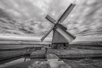 Mühle in Schwarz Weiß von Alex Hiemstra