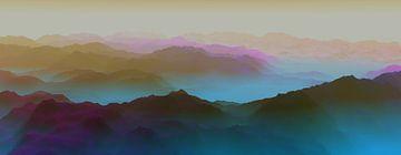 Bergachtig landschap 7 van Angel Estevez