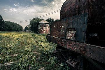 verlaten treinspoor van Bert-Jan de Wagenaar