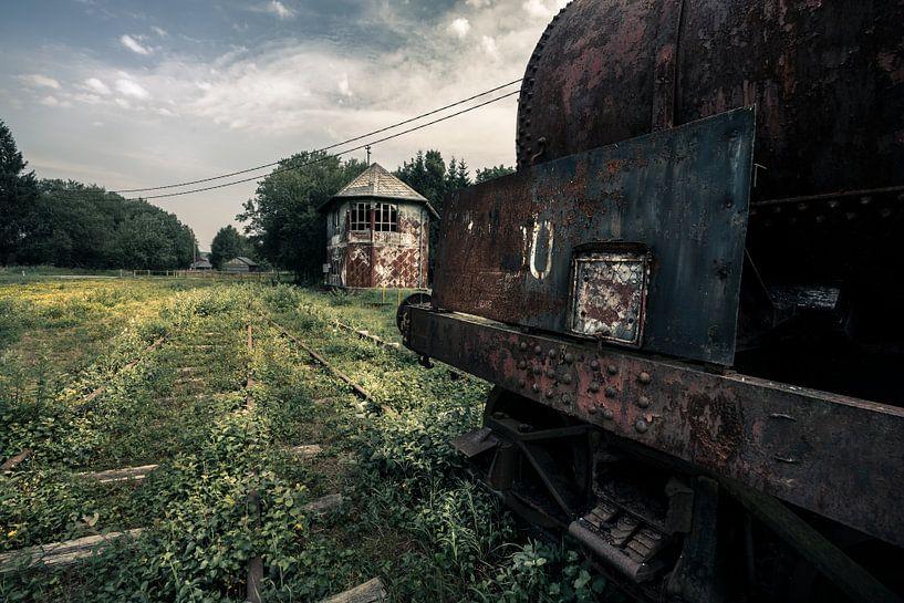 stillgelegte Eisenbahnstrecke von Bert-Jan de Wagenaar