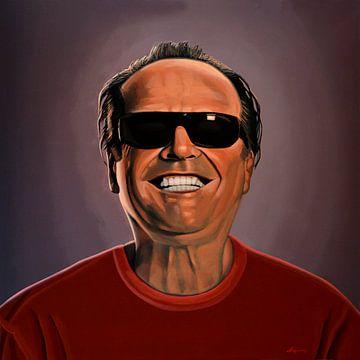 Jack Nicholson Malerei 2 von Paul Meijering