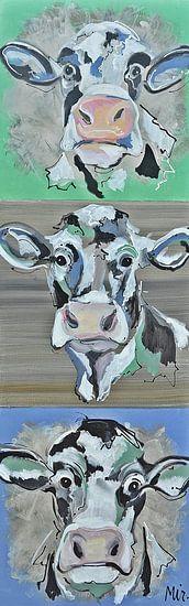 Kühe aus Holland von Kunstenares Mir Mirthe Kolkman van der Klip