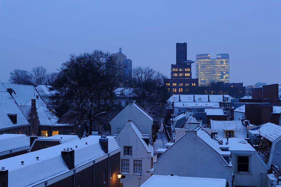 De Inktpot en de Rabotoren in Utrecht in de winter
