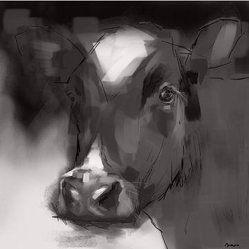 Kuh Dina. von SydWyn Art