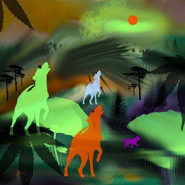 Honden.fantasie van Raina Versluis