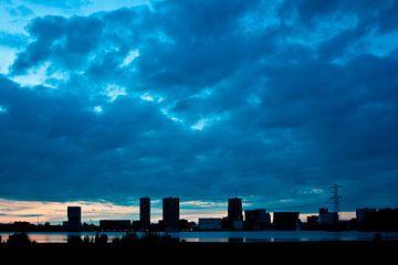 Skyline van Almere von André van Bel