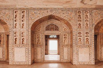 Agra fort en Inde, Asie | Photographie de voyage sur Lotte van Alderen