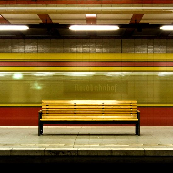 Tube Station Nordbahnhof in Berlin