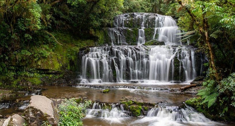 Purakaunui Falls van Ton de Koning