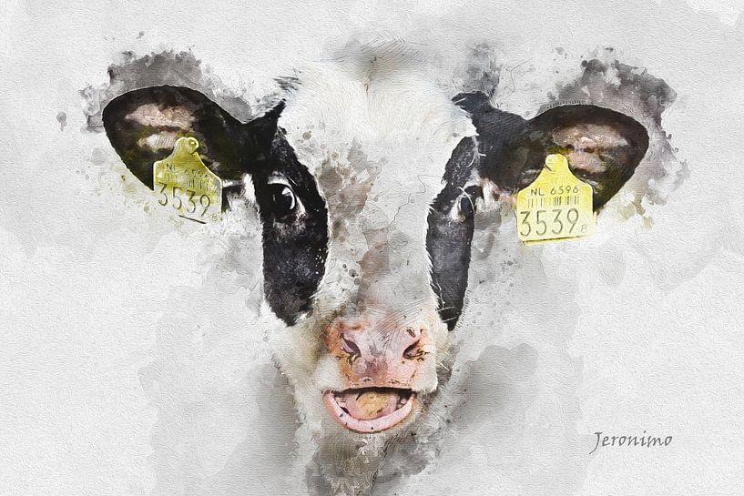 De lachende koe van Art by Jeronimo