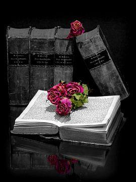 Bücher mit Rosen