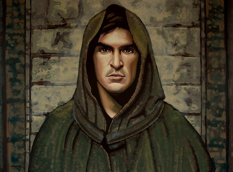 Joaquin Phoenix Schilderij van Paul Meijering