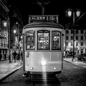 Tram - Lissabon (zwartwit)
