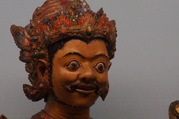 Gezicht Wajangpop / Face Wayang Doll, Tropenmuseum, Amsterdam van Maurits Bredius