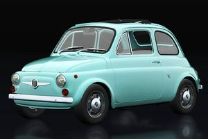 Fiat Abarth 595 1968 vue trois quarts