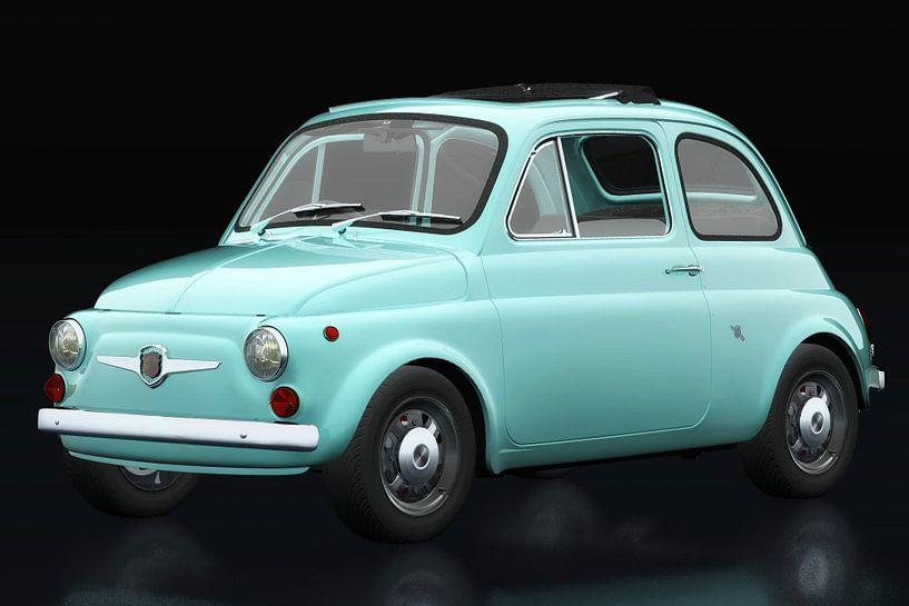 Fiat Abarth 595 1968 vue trois quarts sur Jan Keteleer