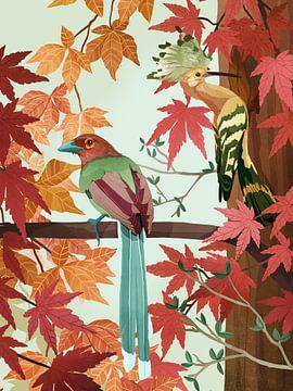 Vögel im Herbst von Goed Blauw