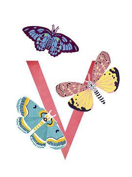 V - Schmetterling von Goed Blauw
