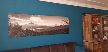 Klantfoto: Zicht op mount Fuji  van Manja Herrebrugh - Outdoor by Manja