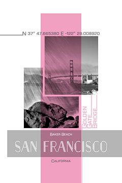 Poster Art SAN FRANCISCO Baker Beach van