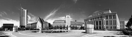 Leipzig - Augustusplatz van Marcel Schauer