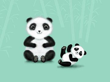 Mama und Kind Panda von Lida Bruinen