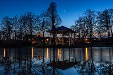 Schoonhoven in het blauwe uurtje sur Stephan Neven