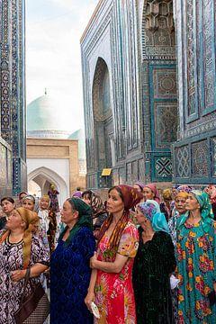 Oezbeekse vrouwen in Samarkand van Jeroen Kleiberg
