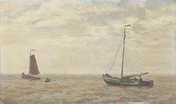 Meeresblick mit Fischerbooten, Willem Bastiaan Tholen