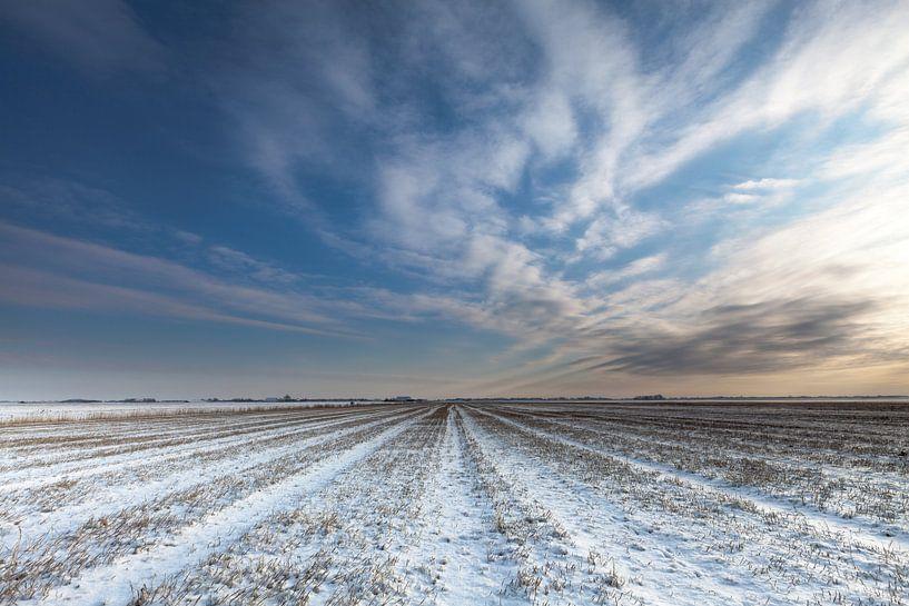 Winter bij Noordpolderzijl van Ron Buist