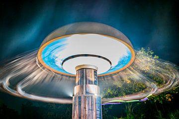 Moulin à vent la nuit sur Pierre Verhoeven