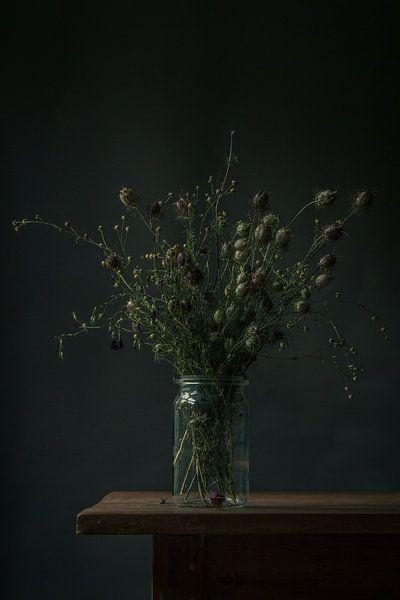 Boeket droogbloemen stilleven van Martzen Fotografie