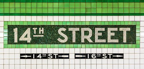 New York Subway 14th Street von Inge van den Brande